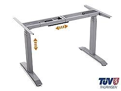 moebel-eins Office ONE elektrisch höhenverstellbares Tischgestell mit Memory-Funktion (grau)