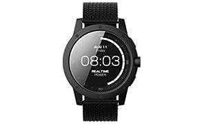 Matrix MATPW03 PowerWatch – Smartwatch, no charging needed, works with body heat, 50m water resistant, PowerWatch App, customizable - Black