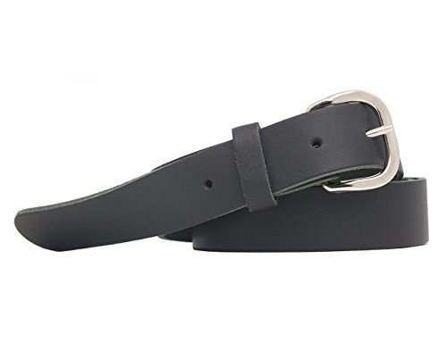 Cintura Vera Pelle Made In Germany Cintura 3cm Uomo Donna Oversize Fino a 145cm (nero, 170cm XXL lunghezza totale)