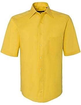 CASAMODA Herren Businesshemd auch große Größen 100% Baumwolle gelb 39/M