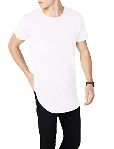 Urban Classics Herren T-Shirt Shaped Long Tee TB638, Weiß (white), XL (Z-brand Shorts)