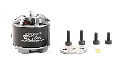 Gartt 4PC ML2212 920KV Brushless Motor with 4PC Propeller Nut Cap and Adapter CW/CCW For FPV Drone Quadcopter Multicopter