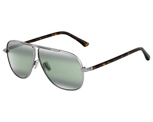 Jimmy Choo Sonnenbrillen (EWAN-S YL7EL) silber matt - havana dunkel - grau-grün - verspiegelt