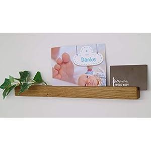 Bilderleiste, Bilderhalter, Holzzierleiste aus Nussbaum oder Eichenholz