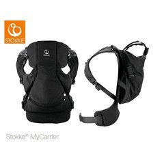Stokke - Mochila portabebés mycarrier frontal y trasera negro
