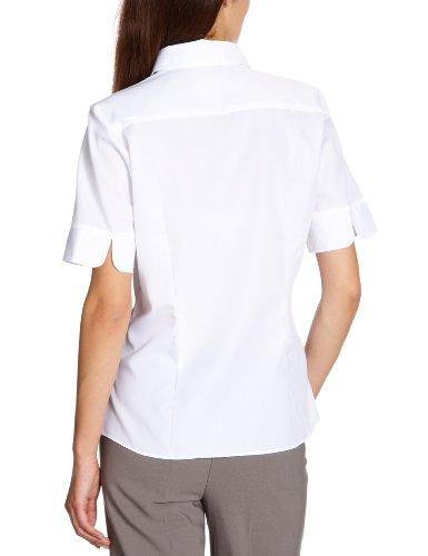 Seidensticker Damen Hemdbluse comfort fit / regular fit Kurzarm bügelfrei Weiß (01)
