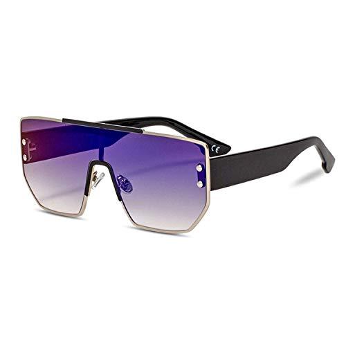 Sport-Sonnenbrillen, Vintage Sonnenbrillen, Big Square Sunglasses Women Pink Mirror Oversized Sun Glasses Men Fashion Metal Sunglass