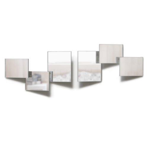 Umbra 470465-109 Vantage (Set of 6) Spiegel, Transparent/weiß
