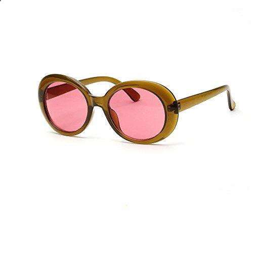 Verdickte Brille Vintage Retro Mode Katzenauge Brille Runde Verspiegelt Sonnenbrille FüR Herren Und Damen Round Frame Uv-Brille Sonnenbrillen Reisen Golf Party Und Freizeit (Bräutigam Braut Und Sonnenbrille)