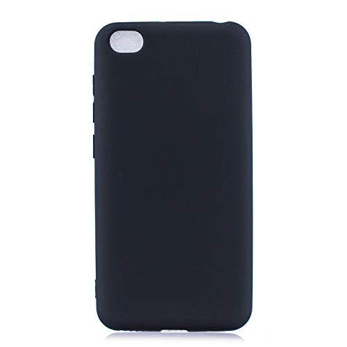 cuzz Funda para Xiaomi Redmi GO+{Protector de Pantalla de Vidrio Templado} Carcasa Silicona Suave Gel Rasguño y Resistente Teléfono Móvil Cover-Negro