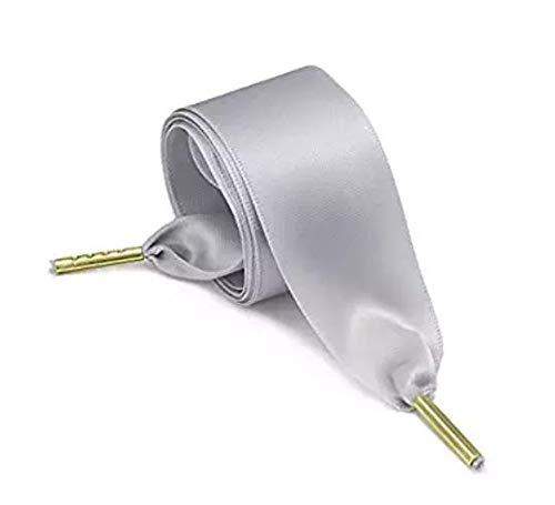 Boheng Schnürsenkel breite Flache Satin Ribbon Schnürsenkel für Kinder und Erwachsene * 1 Paar -