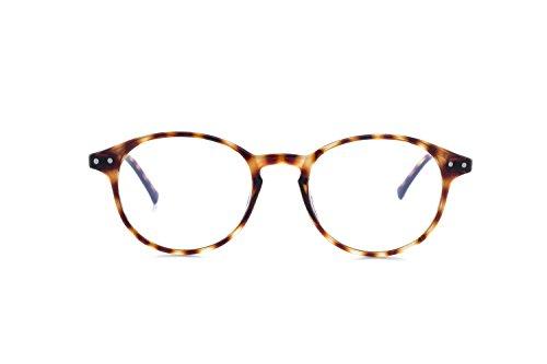 My Blue Protect® W001 Gafas de protección contra la luz azul, antifatiga, con filtro UV, diseño unisex--, W001, Écaille Marron