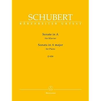 Sonate D959 en La Majeur (Urtext) --- Piano