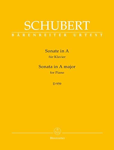 Sonate D959 en La Majeur (Urtext) - Piano