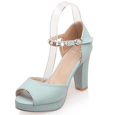 LvYuan Damen-Sandalen-Lässig Party & Festivität Kleid-PU-Blockabsatz-Andere-Blau Rosa Weiß White