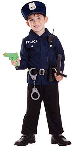 Enter-Deal-Berlin 7 Teile Kinderkostüm Polizist Größe 96-116cm ( 3-6 Jahre )