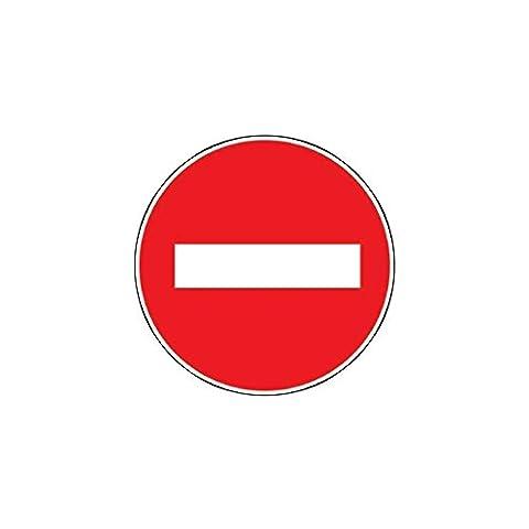 Novap - Panneau - Sens interdit - Diamètre 180Mm Rigide