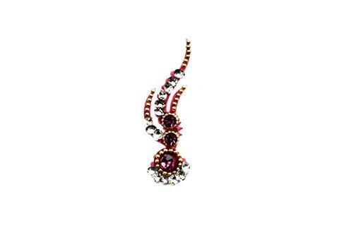 Teeliya® » Flamingo ♦ Bindi ♦ Pink ♦ Indischer Stirnschmuck ♦ Schmucksteine fürs Gesicht ♦ Selbstklebend ♦ ()