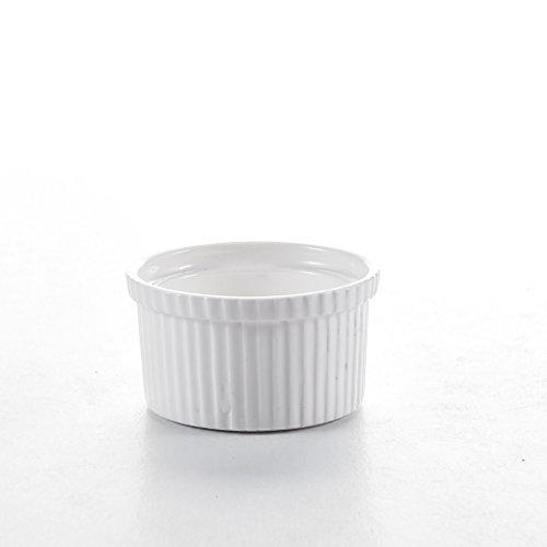 Malacasa 12pcs Petit Ramequin 7*7*4cm Moule à Soufflé Crème Brulée Muffin Bols Porcelaine Série Ramekin Dish