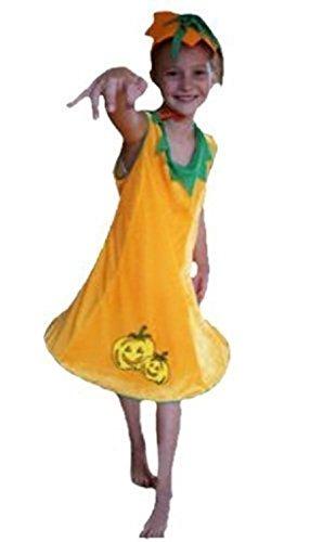 AN02 7-9 Jahre Kürbiskostüm, Halloween Kostüm, Kürbis Faschingskostüme, Kürbis Karnevalskostüm, für Kinder, Jungen, Mädchen, für Fasching Karneval Fasnacht, auch als Geschenk zum Geburtstag oder (Halloween Kostüme 9 Jährigen)