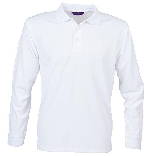 Henbury Long Sleeve Coolplus Polo Shirt Royal