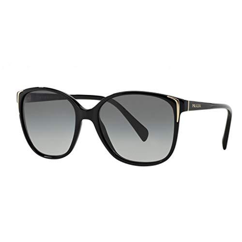 Prada Lässig Square Sonnenbrille in schwarz PR 01OS 1AB3M1 55 55 Gradient Grey