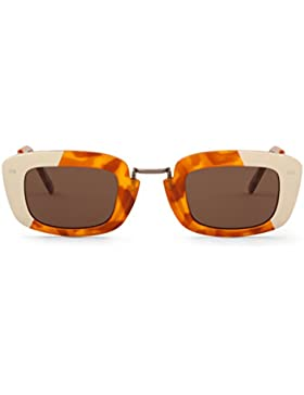 Mr Boho Copacabana with Classical Lenses, Gafas de Sol para Mujer, Cream/Leo Tortoise, 47