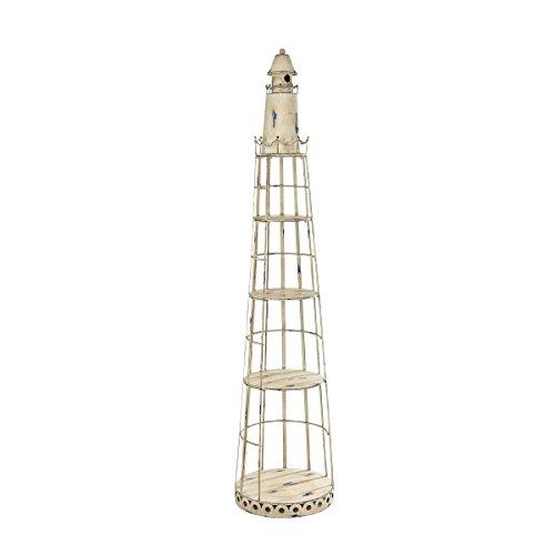 Pflanzenregal Leuchtturm - Blumentreppe - Maritime Gartendeko - Metall - Höhe ca. 180 cm