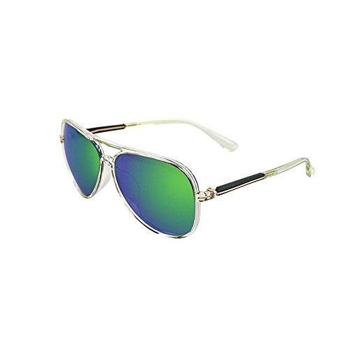 Sonnenbrillen Super Light-Sonnenbrille-Frauen rundes Gesicht Farbe Film polarisierte Sonnenbrille Männliche Gezeiten Retro Paar Models Schütze Deine Augen (Farbe : E)