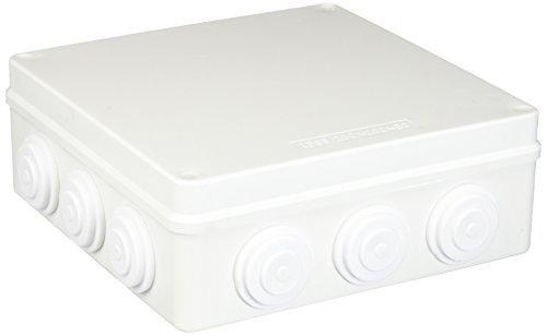 ABS Blanc IP65 Étui Boite de dérivation électrique imperméable 200 x 200 x 80 mm