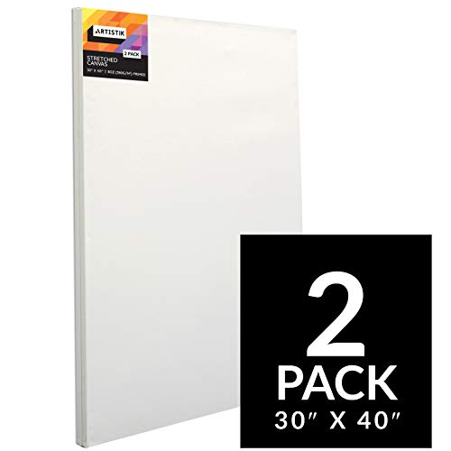 Artistik Blank Canvas - Stretched Canvas Frames Panel Board for Painting,100% Cotton Artist Quality Triple Primed Gesso Stretched Canvases Quality Art Paint Supply (Pack of 2-30