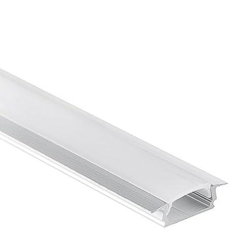 LED Aluminium Profil PL8 Subra 2 Meter für LED Streifen plus Abdeckung Opal Aluprofil