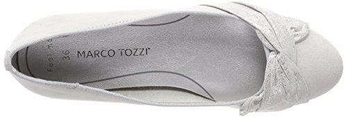 Marco Tozzi 22101, Ballerine Punta Chiusa Donna Grigio (Lt.grey Comb)