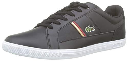 Lacoste Herren Europa 319 1 SMA Sneaker, Schwarz (Black/Red 1b5), 42 EU