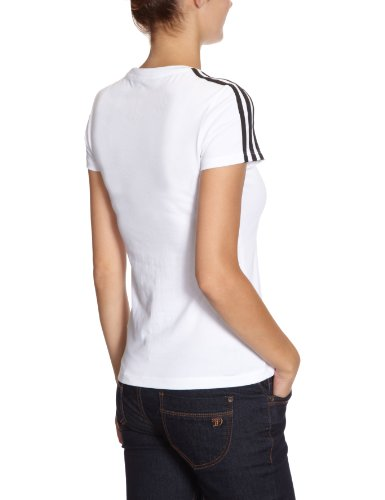 adidas, Maglietta Donna Essentials 3S Tee Bianco (white/black)
