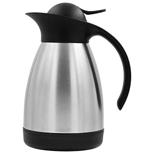 TRINKBASIS Isolierkanne 600 ml - Thermoskanne aus doppelwandigem Edelstahl für 3 Tassen Kaffee oder Tee
