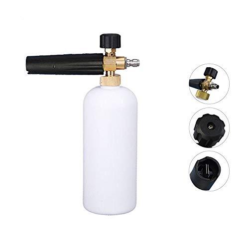 OrchidBest Professionel Autowaschpistole Schneeschaum Lanze Einstellbare Schaumkanone mit Schnellverschluss 34oz 1L Flasche