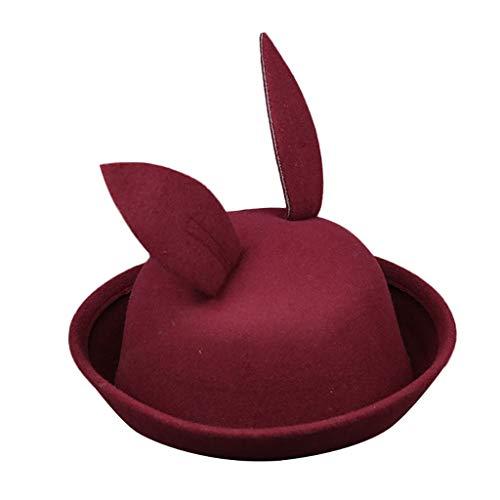 Poachers Hut,Baby Kinderfrühlings Karikatur Kaninchenohren Kappen Wolle Normallack Hut Fischer Hüte