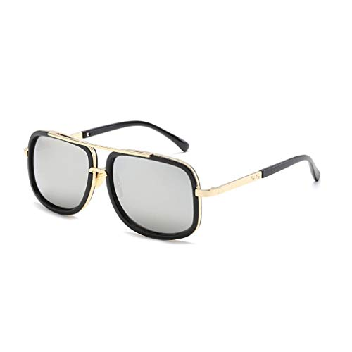 FiedFikt Unisex Polarisierte Sport-Sonnenbrille Vintage Fashion verspiegelt Sonnenbrille für Herren/Frauen Radfahren, Laufen, Autofahren, Angeln, Golf, Baseball, Outdoor, Sportbrille 100% UV-Schutz F