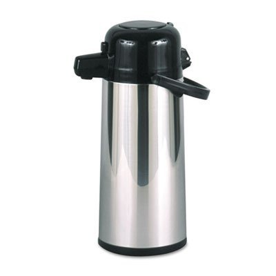 commercial-grade-22-liter-airpot-w-push-button-pump-stainless-steel-sold-as-1-each