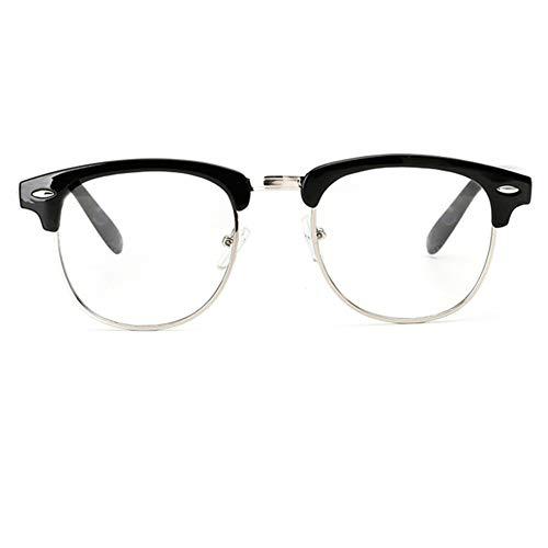 YUNCAT Retro Nerd Brille Halbrahmen Hornbrille Stil Rockabilly Brille Dekobrillen