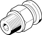 FESTO 533212 QB-M5-1/4-U-M PUSH-IN FITTING - SUPPLIED IN PACK OF 10
