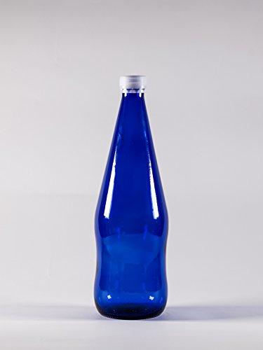 Schraubverschluss Glas-wasser-flaschen (nr 1 Glasflasche Wasser 750 ml aus blauem Glas Schraubverschluss n°27)