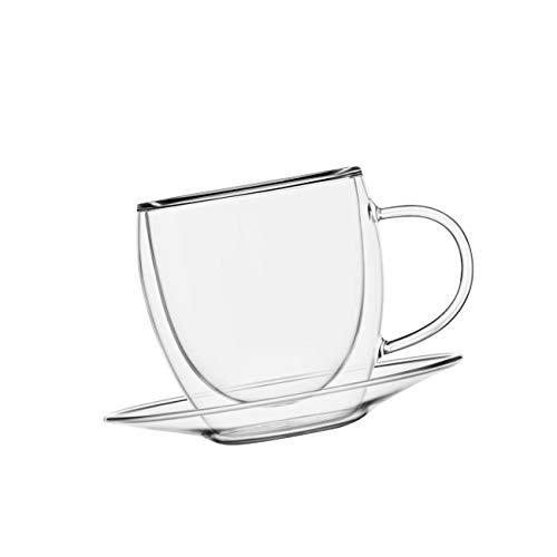 bedida doppelwandiges XXL Thermoglas, Tasse inkl. Unsetzer 500ml transparent