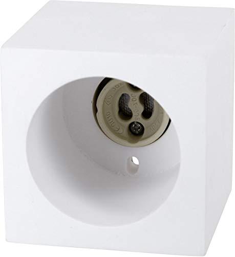 Foco empotrable para techo (GU10, 230 V, cuadrado, 70 x 70 x...