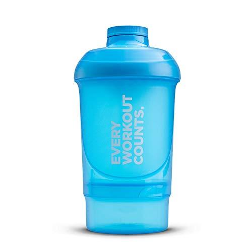 Prozis Nano Shaker Every Workout Counts 300ml + 150ml - Blau - Single Size - Nutrition Single Optimum