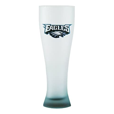 NFL Philadelphia Eagles Frosted Pilsner Glass with Bottom Spray, 23-ounce