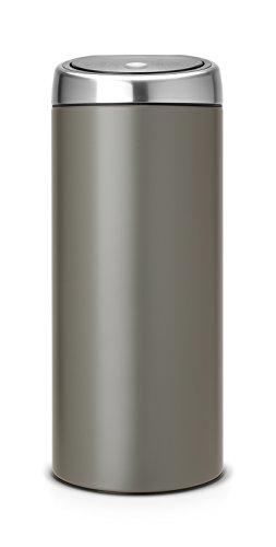 Brabantia Touch Bin 30 L mit Kunststoffeinsatz/Platinum (30l Bin Touch)