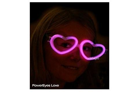 1 paire de Lunettes Fluo Coeur Rose - idéal pour vos soirées