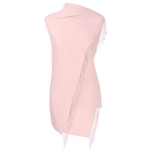 Fiolini Pashmina Schal Stola Umschlagtücher Tuch für Damen - Super Weich - (rose)